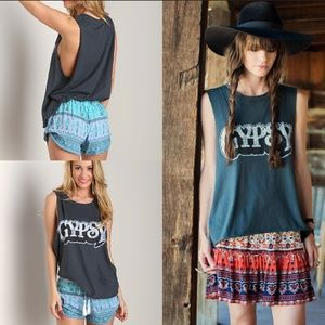 Spell & The Gypsy Collective Dresses - Spell designs gypsy tank dress tee charcoal L gray
